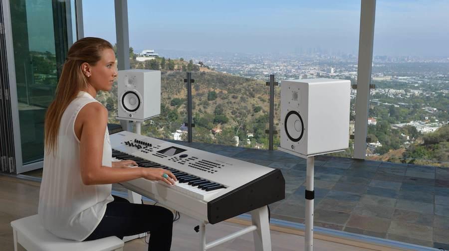 Girl at Keyboard in LA